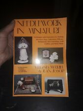 Book Doll House Furniture Needlework Virginia Merrill Techniques rugs clothes