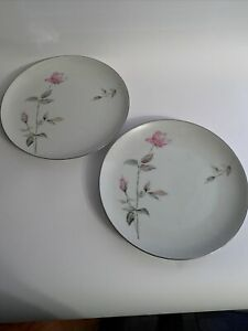 "Style House Fine China - Japan - DAWN ROSE - 10 1/2"" Dinner Plates (2)"