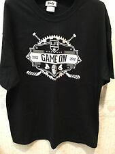 LA Kings Game On Shirt - Size L - 2013-2014 Game Schedule NHL Hockey Los Angeles