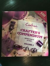 Crafters Companion - Crafters Compendium Volume 2 PC CD - BN Card, crafts