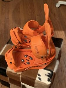Burton Freestyle Snowboard Bindings L Orange