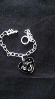 Engraved Bracelet  Heart Finger / Hand/ Foot Print  Jewellery
