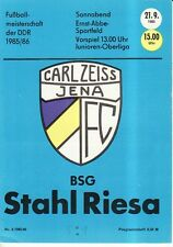 OL 85/86 FC Carl Zeiss Jena - BSG Stahl Riesa