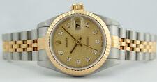 ROLEX - Gold & SS Ladies DateJust Champagne Jubilee Diamond - 79173 SANT BLANC