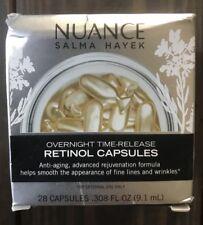 Nuance Salma Hayek Overnight Time Release Retinol x 28 capsules! READ