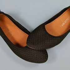 BERNIE MEV Womens Size 9M Black Slip On Woven Stretch Ballet Flats Loafers Shoes