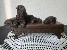 T. Acevedo Irish Wheaten Terrier Dogs Figurine on Chaise Lounge Signed #6/350