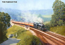 """Hornby Dublo in Railway Art """"The Famous Five"""" No. 29 Signed & Numbered."""