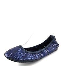 Tory Burch Eddie Purple Glitter Ballet Flats Women's Size 6.5 M $198*