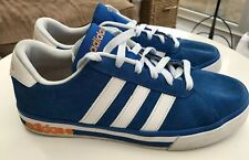 Mens Adidas Neo Daily Team Suede Shoes Blue White Casual Trainers SIZE UK 6