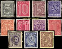 EBS Germany 1920 - Officials - Dienstmarken - Michel 23-33 MNH**  c.v. $68.00