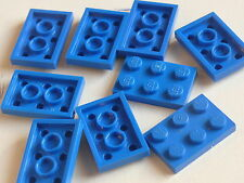 Lego 9 plates bleues set 2774 5525 8435  / 9 blue plates