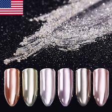 1g Nail Glitter Powder Magic Mirror Silver Smooth Pigment Dust Manicure Chrome