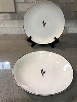 Arita Fukagawa Silver Wheat #928 Soup Bowl With Salad Plate (Free Shipping)