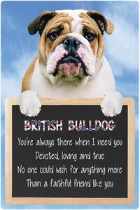 British Bulldog sign BULLDOGS signs faithful friend dog quote wall hanging dogs
