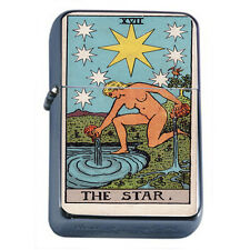 Tarot Card D19 Flip Top Oil Lighter Wind Resistant Flame XVII The Star