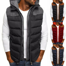 Мужская стеганая жилет зима для согревания тела без рукавов с капюшоном с подкладкой куртка пальто чудаковатый