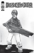 DESCENDER #25 COVER D WALKING DEAD #104 TRIBUTE LEMIRE B&W VARIANT IMAGE COMICS