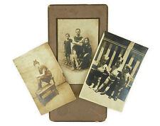 Lot 3 Antique Photographs Beach Bathing Suit Portraits Benjamin Pollack Family