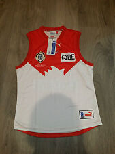 RARE 2003 2006 OFFICIAL AFL ADAM GOODES SYDNEY SWANS BROWNLOW FOOTBALL JUMPER L