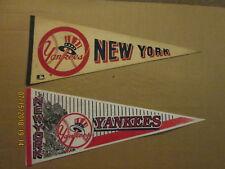 MLB New York Yankees Vintage 1970's Top Hat & Circa 1994 Logo Baseball Pennants