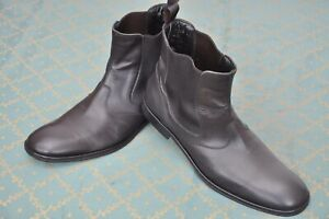 Hugo Boss mens Black Calf Chelsea Boots shoes size 8.5