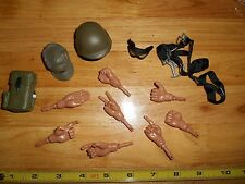 1/6 Scale 12 in Size Lot Hands Hat Helmet Goggles Parts For Action Figure Toys