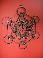 """Sacred Geometry Metatrons Cube Crystal Grid Extremely Intricate 10"""""""