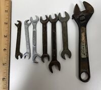 Mixed Lot of 7 Vintage Tools Wrenches (snap on, Dunlap & Other) View Desc