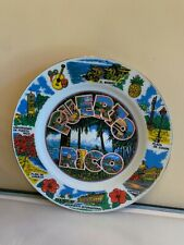 Vintage Early 1980's Puerto Rico State Souvenir Collector Plate