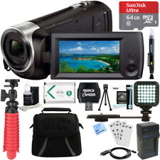 Sony HDR-CX405/B Full HD 60p Video Camera Camcorder + 64GB Accessory Bundle
