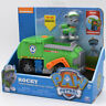Nickelodeon PAW Patrol Dog Rocky's Transforming Recycle Truck Model Car Kid Toy