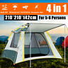 5~6 People Automatic Instant Pop Up Tent Waterproof Camping Hiking Outdoor Kit