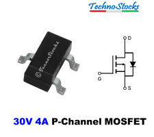 10x AO3401 P-Channel 30V 4A MOSFET SOT-23 Transistor P-Mos