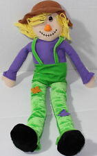 "Goffa International 24"" SCARECROW GIRL DOLL Green Jumpers STUFFED PLUSH Soft Toy"