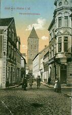 AK Gruß aus Rheine i. W. Steinfurt Herrenschreiberstrasse 1916 mit Kinder+Frauen