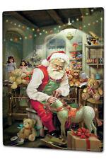Tin Sign XXL Nostalgic Christmas  Santa Claus Workshop Rocking Horse