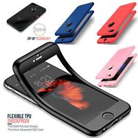 Thin Shockproof Hybrid 360 TPU Gel Cover Case For Apple iPhone 10 X 8 7 Plus 6 5