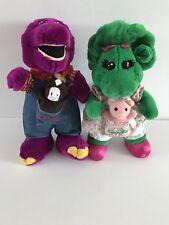 Vintage Barney And Baby Bop Plush Dinosaurus 14�