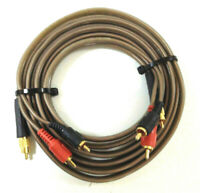 Genuine Sonance MediaLinQ Bronze RCA to AV Interconnect Audio Cable 3M Length