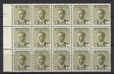 Iraq Irak 1958, King Faisal II, Unissued 20 Fils, Marginal Block of 15 MNH 5134