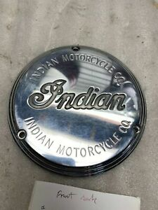 Indian of Gilroy Logo Derby Clutch Cover 3 bolt Chief Scout OEM Vtg