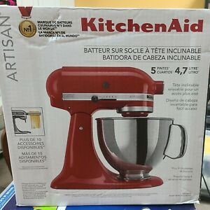 KitchenAid Artisan Series 5 Quart Tilt-Head Stand Mixer Empire Red (New In Box)