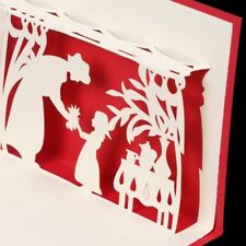 Mother and Daughter 3D Pop Up Paper Handmade Love Greeting Card