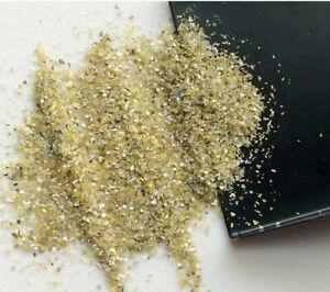 1 Carat, Yellow Diamond Dust, Very Fine Uncut Rough Diamonds, Conflict Free