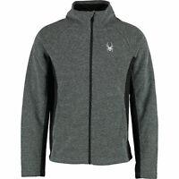 Spyder Men's Racer Sweater Fleece Jacket ,Grey,  Full Zip Sz: S, M, Lrrp:us$ 129
