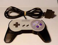 SUPER Nintendo SNES Controller grip,High Quality 3D Printed (Black)