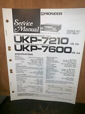 Pioneer UKP-7210,7600 Car Cassette Deck Service manual #1
