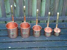 Set of 5 Copper & Brass Drink Ladles Litres -Cider Ale Whisky,Rum  Brandy Ladel