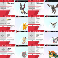 Pokemon Sword & Shield Ultra Shiny 6IV Gigantamax Bundle Charizard Eevee Pikachu